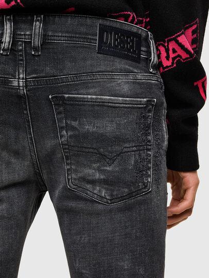 Diesel - Sleenker 009QA, Black/Dark grey - Jeans - Image 3