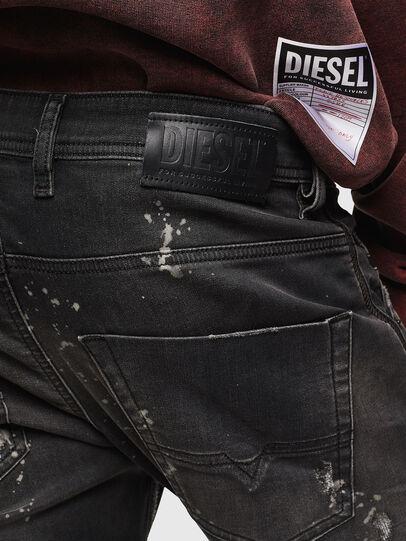 Diesel - Krooley JoggJeans 084AE, Black/Dark grey - Jeans - Image 5
