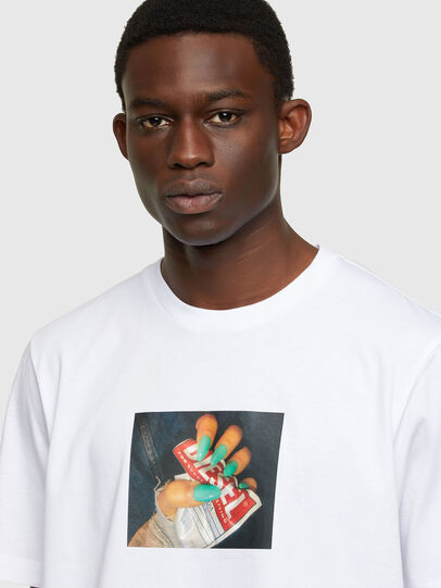 Diesel - T-JUST-A36, White - T-Shirts - Image 3