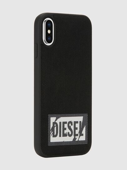 Diesel - BLACK DENIM IPHONE X CASE, Black - Cases - Image 6