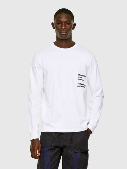 Diesel - T-JUST-LS-A30, White - T-Shirts - Image 1