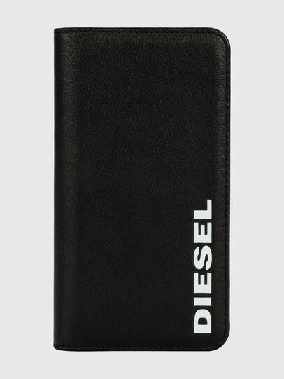 Diesel - DIESEL 2-IN-1 FOLIO CASE FOR IPHONE XR, Black/White - Flip covers - Image 1