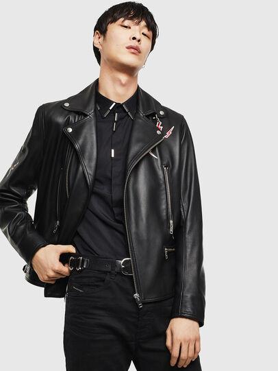 Diesel - CL-L-GOTIV-LITM, Black - Leather jackets - Image 5