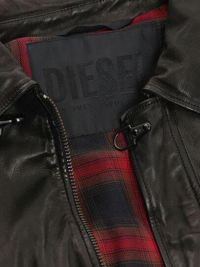 Diesel - L-LUC, Black - Leather jackets - Image 5