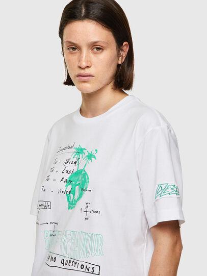 Diesel - T-JUST-B61, White - T-Shirts - Image 6