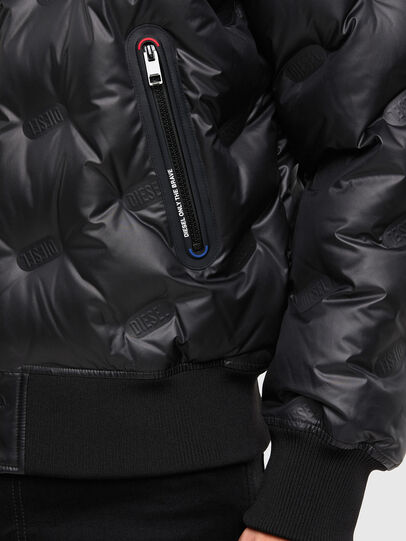 Diesel - W-ON-THERMO, Black - Winter Jackets - Image 4