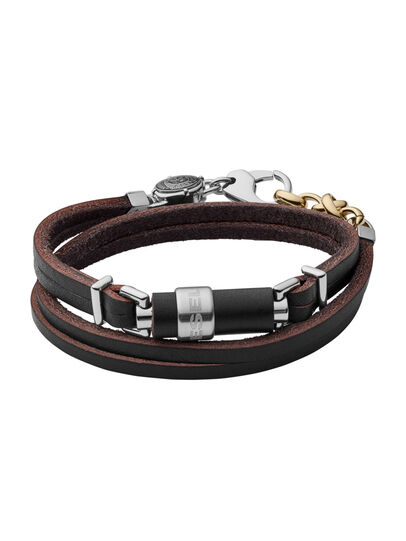 Diesel - BRACELET DX1082, Black Leather - Bracelets - Image 1