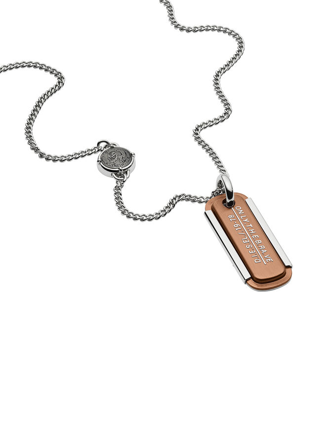 Diesel NECKLACE DX1095, Bronze - Necklaces - Image 2