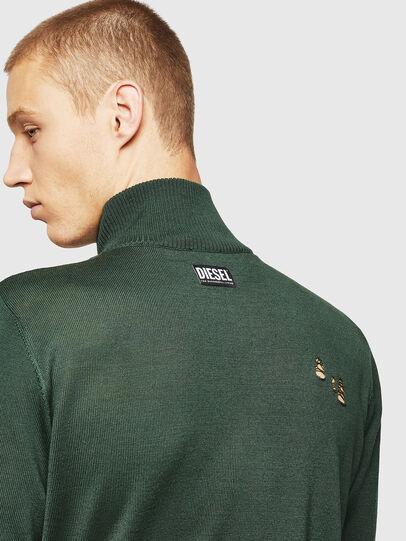 Diesel - K-ECLY, Dark Green - Knitwear - Image 5