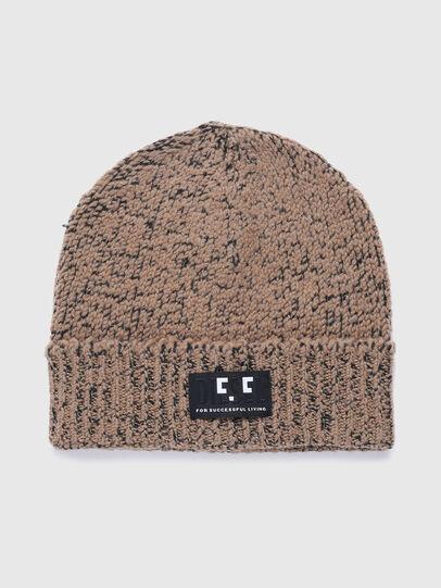 Diesel - K-GREENBAY, Brown - Knit caps - Image 1