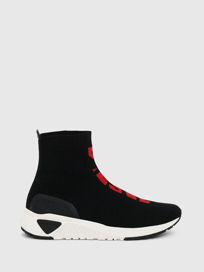 Diesel - S-KB MID ATHL SOCK, Black/Red - Sneakers - Image 1