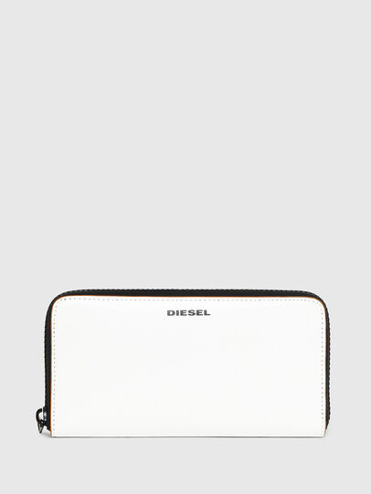 Diesel - 24 ZIP, White - Zip-Round Wallets - Image 1