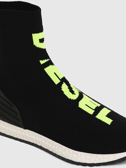 Diesel - SLIP ON 04 MID SOCK, Black - Footwear - Image 4