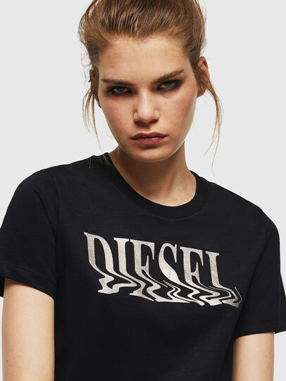 Diesel - T-SILY-WN, Black - T-Shirts - Image 3