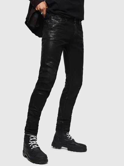 Diesel - Sleenker 0091F, Black/Dark grey - Jeans - Image 6