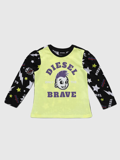 Diesel - TULLAB-R, Black/Yellow - T-shirts and Tops - Image 1