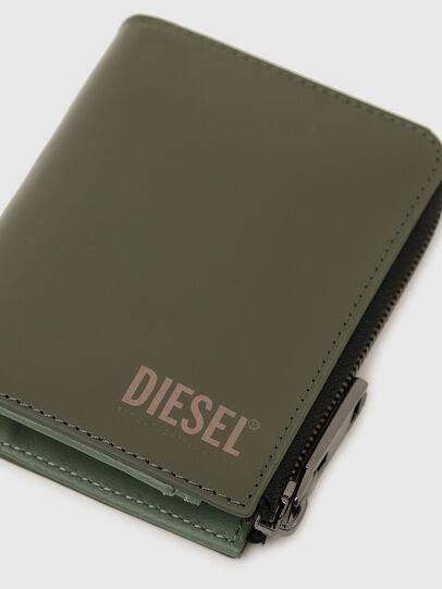 Diesel - L-12 ZIP, Olive Green - Zip-Round Wallets - Image 5