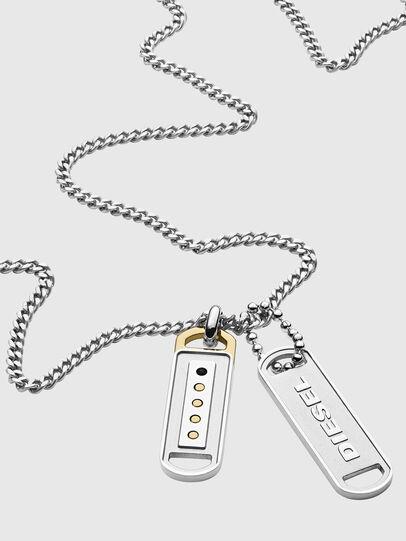Diesel - DX1213, Silver - Necklaces - Image 2