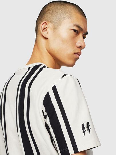 Diesel - T-STRIP-J1, White/Black - T-Shirts - Image 3