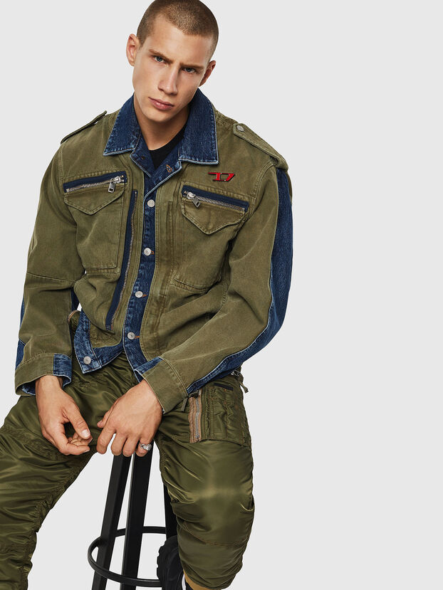 D-MALLY, Blue/Green - Denim Jackets