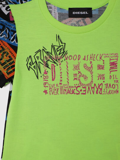 Diesel - TAIRB-R, Green/Black - T-shirts and Tops - Image 3