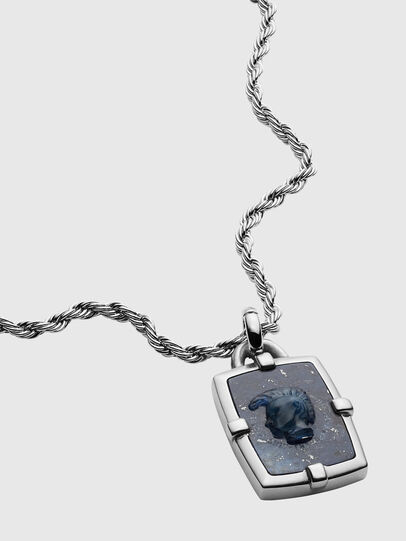 Diesel - DX1191, Silver - Necklaces - Image 2