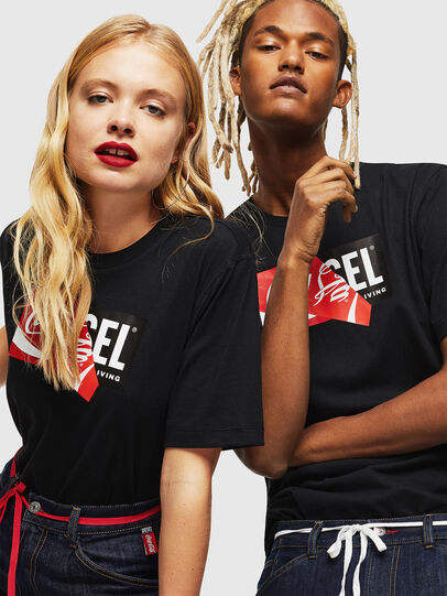 Diesel - CC-T-JUST-COLA, Black - T-Shirts - Image 6