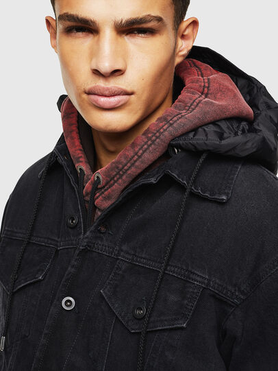 Diesel - D-SHER, Black - Winter Jackets - Image 3