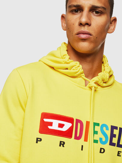 Diesel - S-GIR-HOOD, Yellow - Sweaters - Image 3