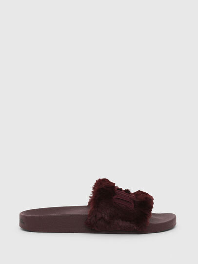 Diesel - SA-VALLA R W, Bordeaux - Slippers - Image 1