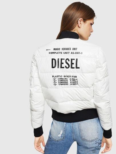 Diesel - W-ONY, White - Winter Jackets - Image 2