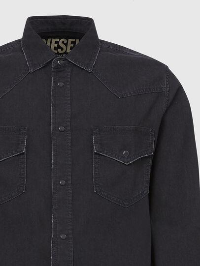 Diesel - D-EAST-P, Black - Denim Shirts - Image 3