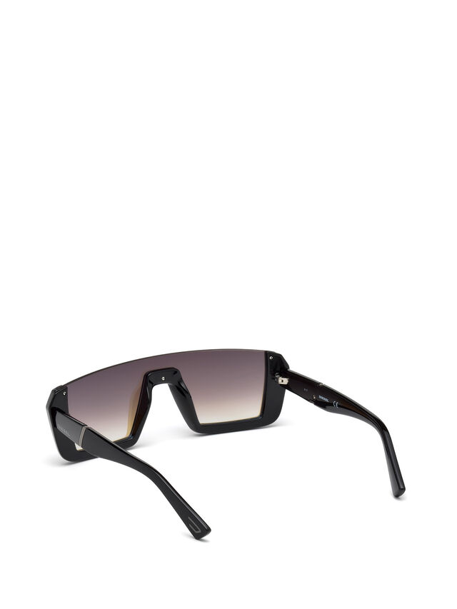 Diesel - DL0248, Bright Black - Sunglasses - Image 2