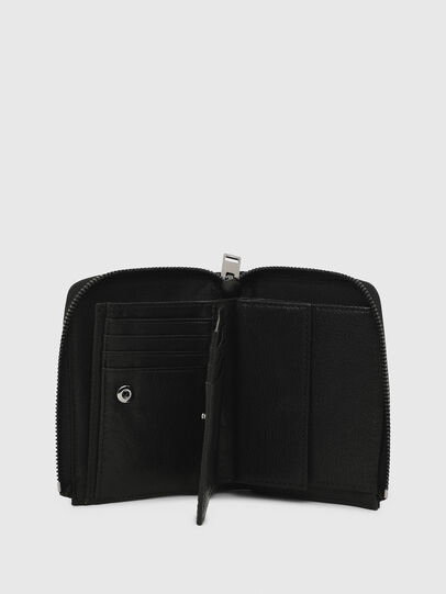 Diesel - L-12 ZIP, Black - Zip-Round Wallets - Image 4