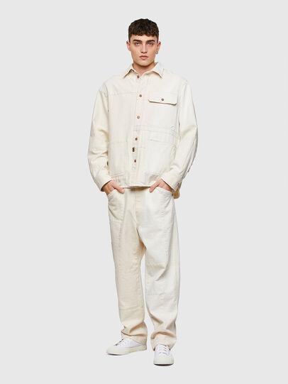 Diesel - D-HORUS-SP, White - Denim Shirts - Image 7