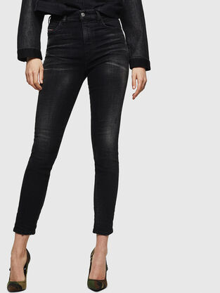 Babhila High 0092B, Black/Dark grey - Jeans