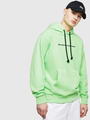 S-GIRK-HOOD-FLUO, Green Fluo - Sweaters