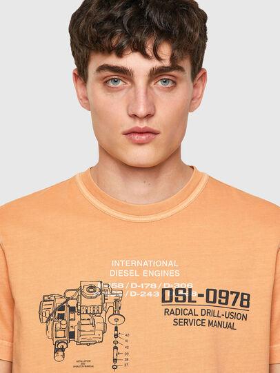 Diesel - T-DIEBIND-B1, Orange - T-Shirts - Image 3