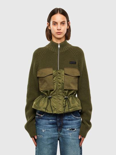 Diesel - M-EKA, Military Green - Knitwear - Image 1