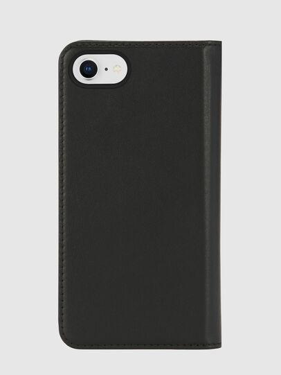 Diesel - SLIM LEATHER FOLIO IPHONE 8/7, Black - Flip covers - Image 2