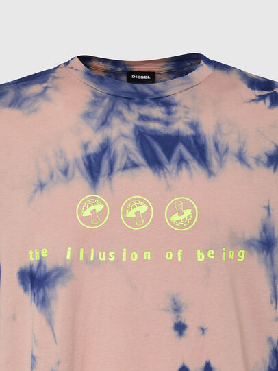 Diesel - T-JUST-SLITS-X86, Pink/Blue - T-Shirts - Image 3