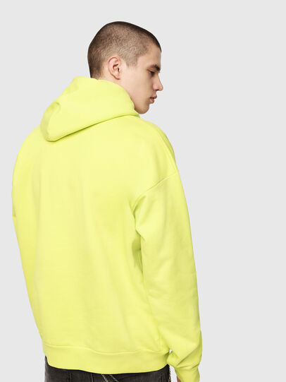 Diesel - S-DIVISION, Yellow Fluo - Sweaters - Image 2