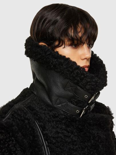 Diesel - L-EYRE, Black - Leather jackets - Image 3