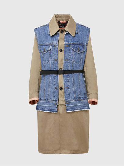 Diesel - W-CHARIE, Beige/Blue - Winter Jackets - Image 1