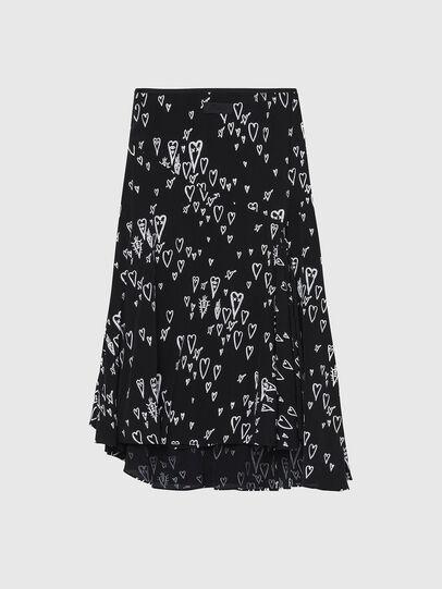 Diesel - O-SPRING-LONG, Black - Skirts - Image 2