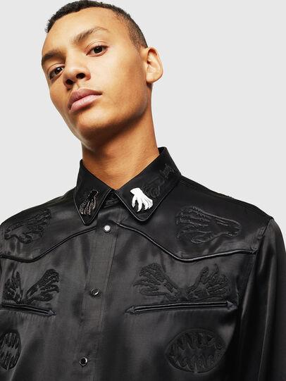 Diesel - S-VEL, Black - Shirts - Image 3