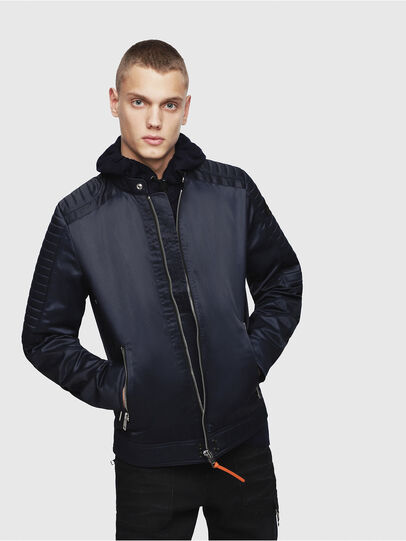 Diesel - J-SHIRO, Dark Blue - Jackets - Image 1