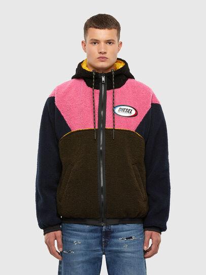 Diesel - W-ETHAN, Blue/Pink - Winter Jackets - Image 1