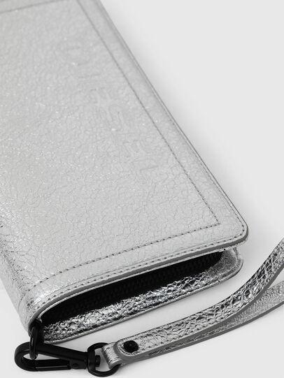 Diesel - GRANATO LCLS, Silver - Zip-Round Wallets - Image 5