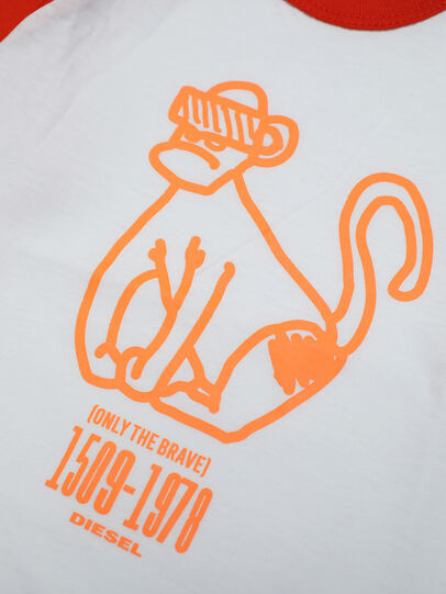 Diesel - TBALYB, White/Orange - T-shirts and Tops - Image 3